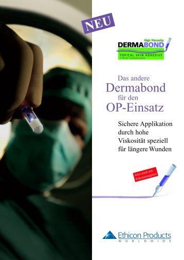 Dermabond OP-Einsatz NEU - Ethicon