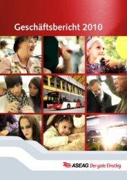 Geschäftsbericht 2010 - ASEAG Der gute Einstieg