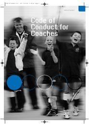Code of Conduct for Coaches