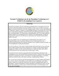 Formele Verbintenis om de the Panathlon Verklaring over Ethiek in ...
