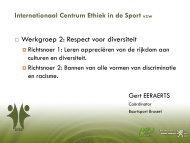 International Centre Ethics in Sport - Internationaal Centrum voor ...