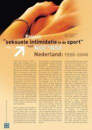 Seksuele intimidatie in de sport