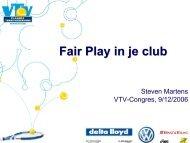 Fair Play in je club