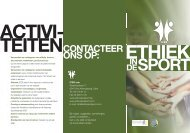 folder ices ned.pdf - Internationaal Centrum voor Ethiek in de Sport
