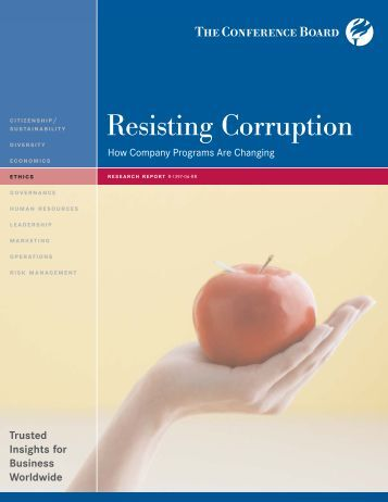 Resisting Corruption: An Ethics and Compliance ... - Ethics World