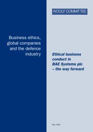 Ethical business conduct in BAE Systems - Global Infrastructure Anti ...