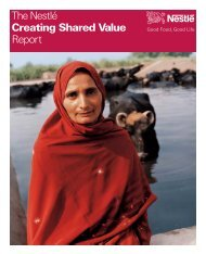 The Nestlé Creating Shared Value Report - World Economic Forum