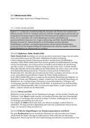 Public Health-Ethik - ethik im diskurs