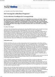 NZZ Online - ethik im diskurs