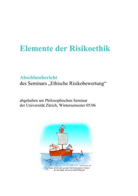 Elemente der Risikoethik - ethik im diskurs