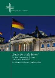 Sucht der Stadt Bestes - Evangelische Allianz Frankfurt