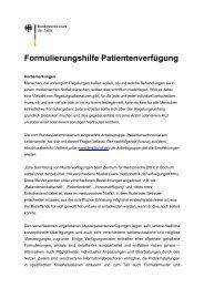Formulierungshilfe Patientenverfügung - Ethikinstitut