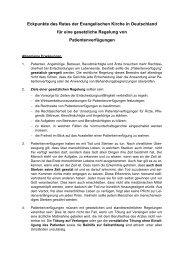 Eckpunkte für eine gesetzliche Regelung von Patientenverfügungen