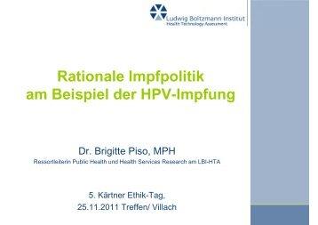 Rationale Impfpolitik am Beispiel der HPV-Impfung