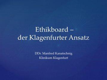 Ethikboard – der Klagenfurter Ansatz