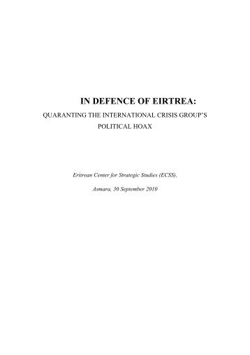 IN DEFENCE OF EIRTREA: - Ethiopian Observer