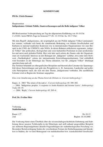 Sommersemester 2008 - Ethnologie - LMU