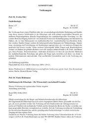 Wintersemester 2008/09 - Ethnologie - LMU