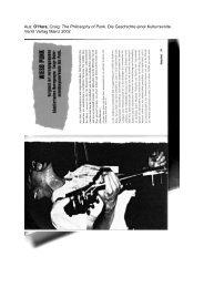 Aus: O'Hara, Craig: The Philosophy of Punk. Die ... - Ethnomusicscape