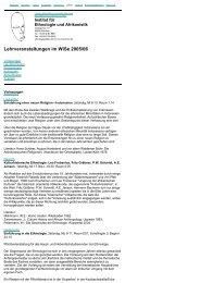 Wintersemester 2005/06 - Ethnologie - LMU