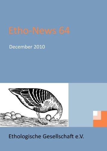 PhD‐theses - Ethologische Gesellschaft