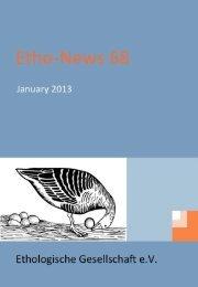 News from Members - Ethologische Gesellschaft