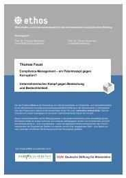 Compliance-Management – ein Patentrezept gegen ... - ethos