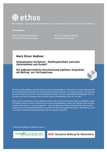Mark Oliver Meßmer - ethos