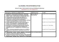 Tematy prac dyplomowych 2009/2010