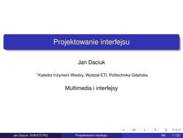 Projektowanie interfejsu