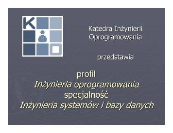 Prezentacja Profilu 2013
