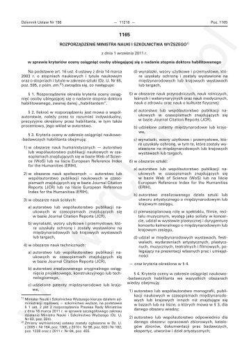 rozporządzenie ministra nauki i szkolnictwa - (www.bip.nauka.gov.pl).