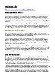 DER RESTAURANT-KNIGGE - Etikette und mehr