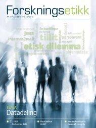 Datadeling krever erfaring - De nasjonale forskningsetiske komiteer