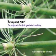 Årsrapport 2007.pdf - De nasjonale forskningsetiske komiteer