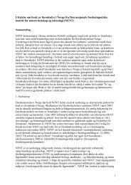 Hele uttalelsen i pdf-format - De nasjonale forskningsetiske komiteer