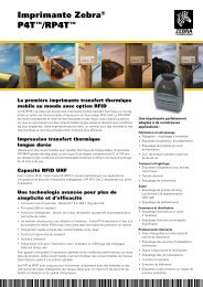 Imprimante Zebra® P4T™/RP4T™ - Etilux