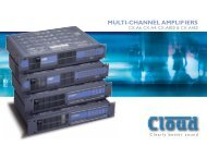 Multi Channel Amplifier Brochure - Etilux