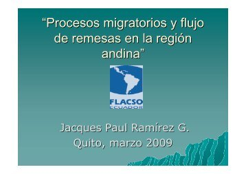 Migracion andina y remesas (Jaques Ramirez) - Etimos