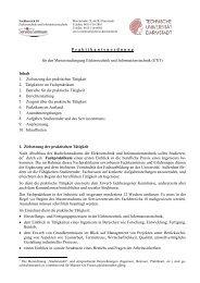 Praktikantenordnung - Fachbereich Elektrotechnik und ...