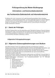 Prüfungsordnung Master iKT - Fachbereich Elektrotechnik und ...
