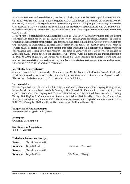 Datentechnik - Fachbereich Elektrotechnik und Informationstechnik