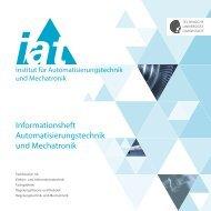 Informationsheft Automatisierungstechnik und Mechatronik