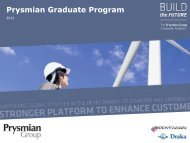 Prysmian Graduate Program
