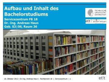Titelseite Haupt-Überschrift - Fachbereich Elektrotechnik und ...