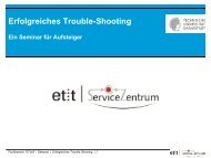 Erfolgreiches Trouble-Shooting