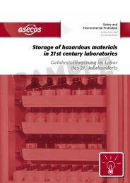 Storage of hazardous materials in 21st century ... - Asecos Gmbh