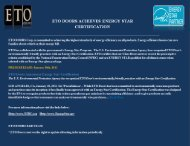 NFRC Product Certification Authorization Report - ETO Doors