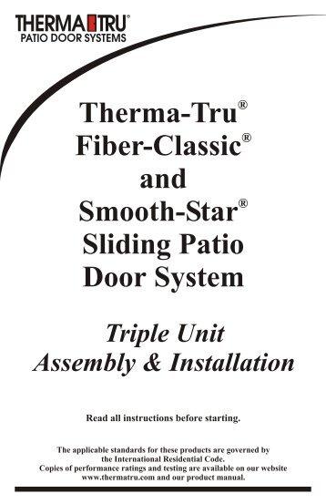 Triple Unit Installation   Therma Tru Doors