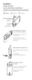 clipray user guide guía de inicio rápido guide de demarrage ... - Eton